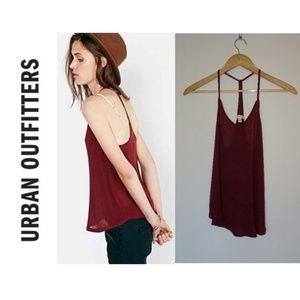 Urban Outfitters silence and noise tank, maroon